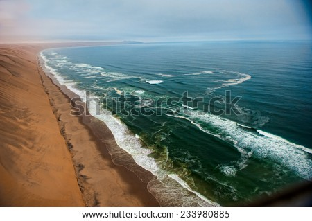Namibian Desert, Skeleton Coast, Africa - stock photo