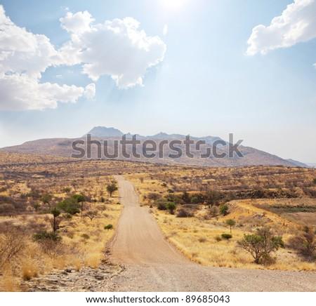 Namibian  landscape - stock photo