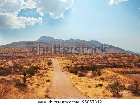 Namibian  landscape - stock photo