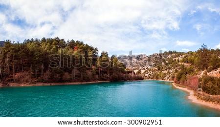 Namrun mountain lake, Mersin Turkey - stock photo