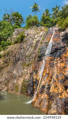 Namuang waterfall of Koh Samui Island Thailand  - stock photo