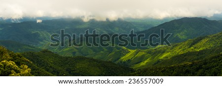Nan mountain top view landscape, Thailand