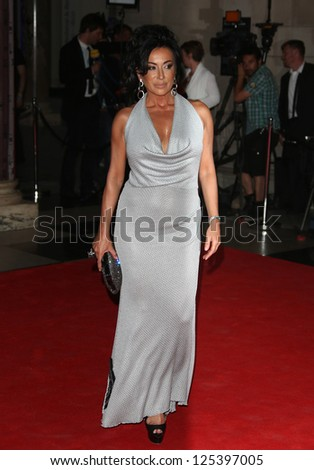 Nancy Dell'Olio arriving for the Sports for Peace - Honouring and celebrating Muhammed Ali held at the V&A museum London. 25/07/2012 Picture by: Henry Harris