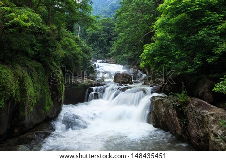 Nang Rong Waterfall in Khao Yai national park, Nakhon Nayok, Thailand - stock photo