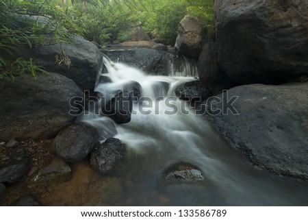 Nang Rong waterfall, Nakornnayhok, Thailand - stock photo