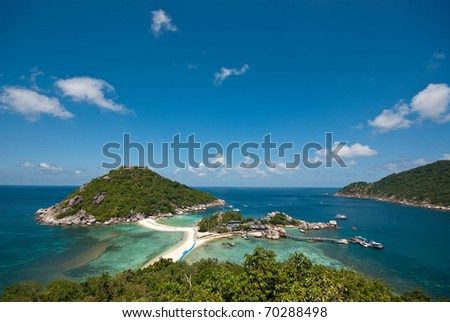 nangyuan island blue sky clear water at view point - stock photo