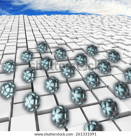 Nanoparticles - 3d rendered illustration - stock photo