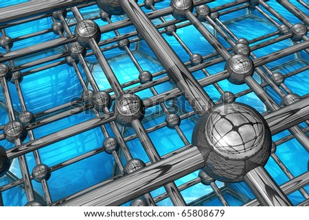 Nanostructures, metal and silicon - Micro-engineering in the service of medicine - stock photo
