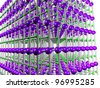 Nanotech: computer model of the molecular structure of a graphite crystal - stock photo