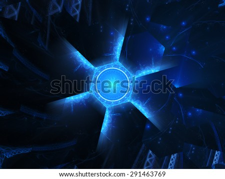 Nanotechnology in future concept, computer generated abstract background - stock photo