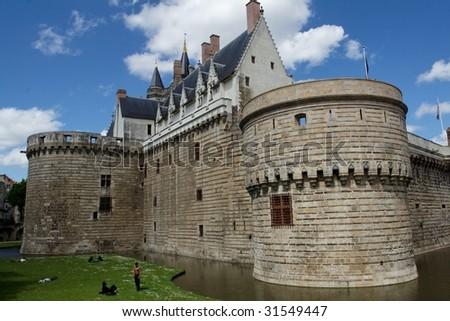 Nantes Castle - stock photo