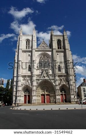 Nantes cathedral - stock photo