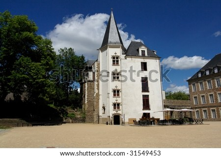 Nantes house on the castle - stock photo