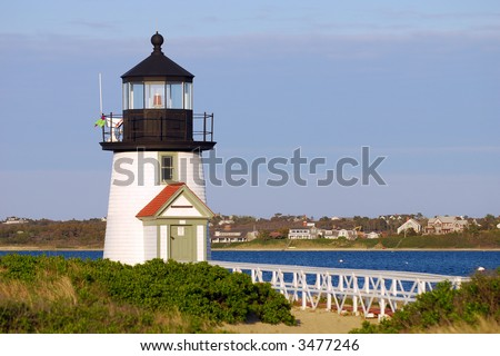 Nantucket Lighthouse - stock photo