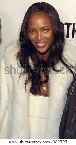 Naomi Campbell at Gotham Magazine's Sixth Annual Gala with Hosts Rudy and Judith Giuliani February 6, 2006 - Capitale New York City, New York United States - stock photo