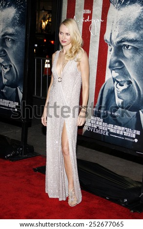 """Naomi Watts at the AFI Fest 2011 Opening Night Gala World Premiere Of """"J. Edgar"""" held at Grauman's Chinese Theater in Hollywood, California, United States on November 3, 2011.  - stock photo"""