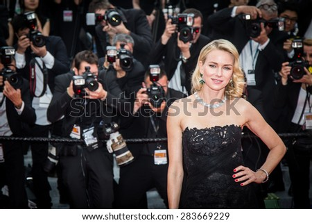Naomi Watts at the 'Mad Max : Fury Road' Premiere during the 68th annual Cannes Film Festival on May 14, 2015 in Cannes, France. - stock photo