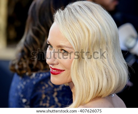 Naomi Watts at the 88th Annual Academy Awards held at the Dolby Theatre in Hollywood, USA on February 28, 2016. - stock photo