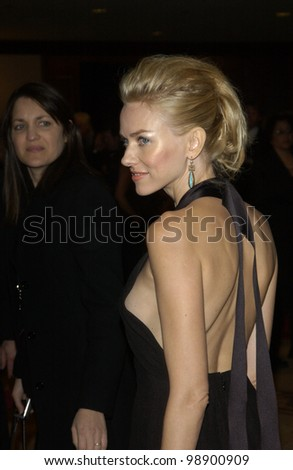 NAOMI WATTS at the 56th Annual Directors Guild Awards in Century City, Los Angeles, CA.  February 7, 2004