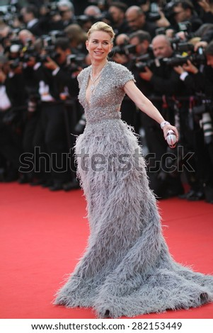 Naomi Watts attends the opening ceremony and 'La Tete Haute' premiere during the 68th annual Cannes Film Festival on May 13, 2015 in Cannes, France. - stock photo