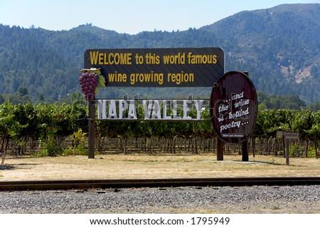 Napa Valley Road Sign - stock photo