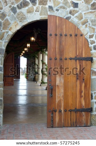 Napa Valley Winery Door - stock photo