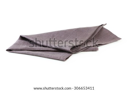 Napkin isolated on white - stock photo