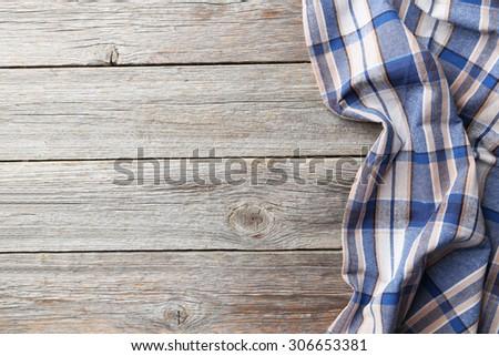 Napkin on grey wooden background - stock photo