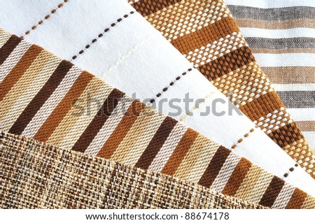 Napkins Variety, brown pattern - stock photo