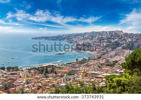 Naples in a summer day in Italy - stock photo