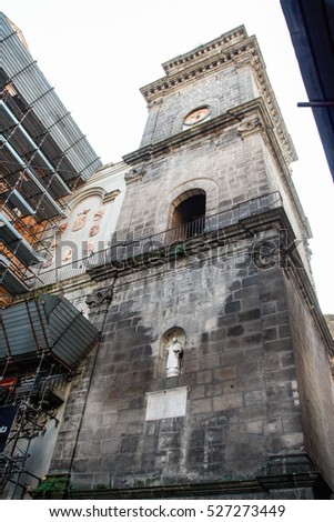 NAPLES - ITALY - ON -  11/28/2016  tower bell of San Lorenzo Maggiore, Tribunali, Naples