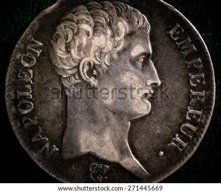 Napoleon 5 francs 1811 - stock photo