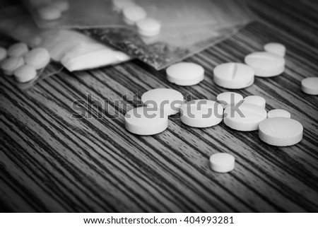 Narcotic Recreational Drugs - stock photo