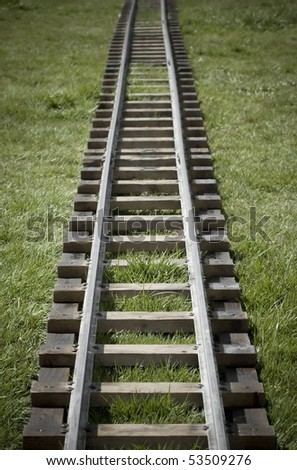 narrow gauge model railroad track