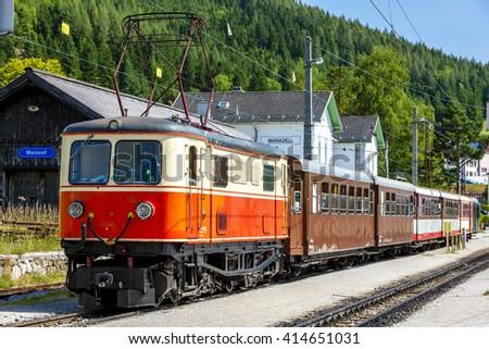 narrow gauge railway, Mariazell, Styria, Austria - stock photo