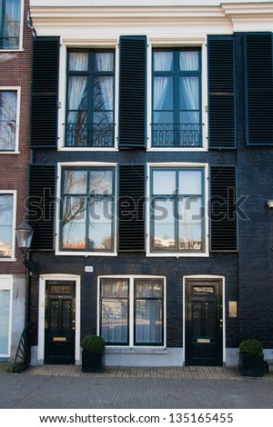 narrow houses in Amsterdam