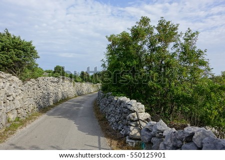 Narrow road in Croatia