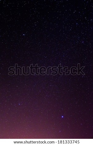 Narural real night sky stars background texture - stock photo