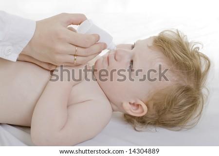 nasal drops - stock photo