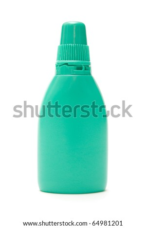 nasal spray isolated on white background - stock photo