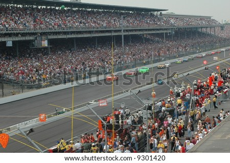 NASCAR  Race at the Brickyard 400 in Indianapolis - stock photo