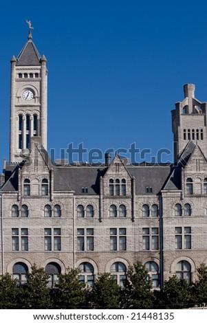 Nashville luxury hotel in historical Union station - stock photo