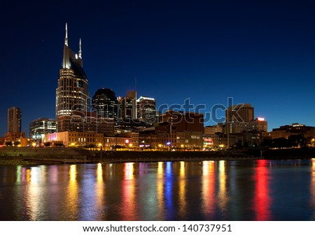 Nashville, Tennessee city skyline - stock photo
