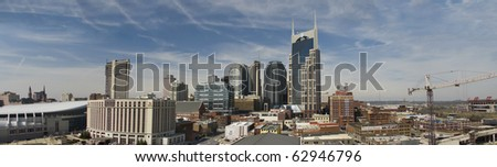Nashville, Tennessee panorama - stock photo