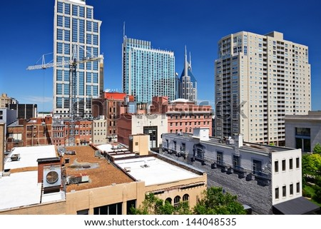 Nashville, Tennessee, USA cityscape. - stock photo