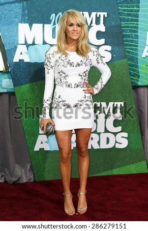 NASHVILLE, TN-JUN 10: Singer Carrie Underwood attends the 2015 CMT Music Awards at the Bridgestone Arena on June 10, 2015 in Nashville, Tennessee. - stock photo