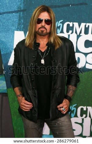 NASHVILLE, TN-JUN 10: Singers Billy Ray Cyrus attends the 2015 CMT Music Awards at the Bridgestone Arena on June 10, 2015 in Nashville, Tennessee. - stock photo