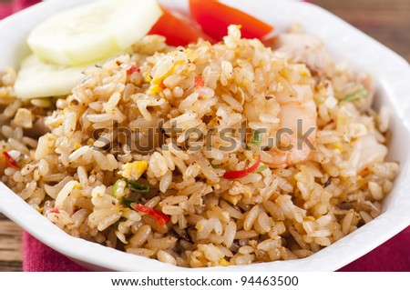 Nasi Goreng with shrimps and Egg
