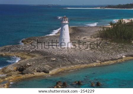 Nassau Bahamas lighthouse - stock photo