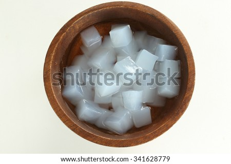 nata de coco - stock photo
